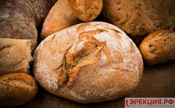 белый дрожжевой хлеб и выпечка противопоказаны мужчинам