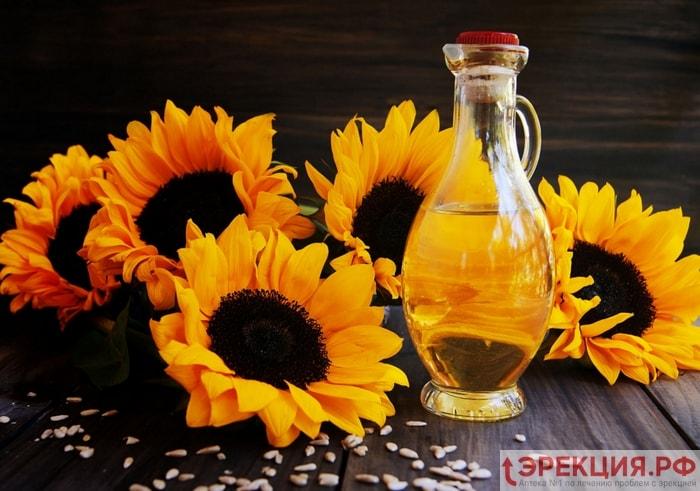 подсолнечное масло снижает потенцию