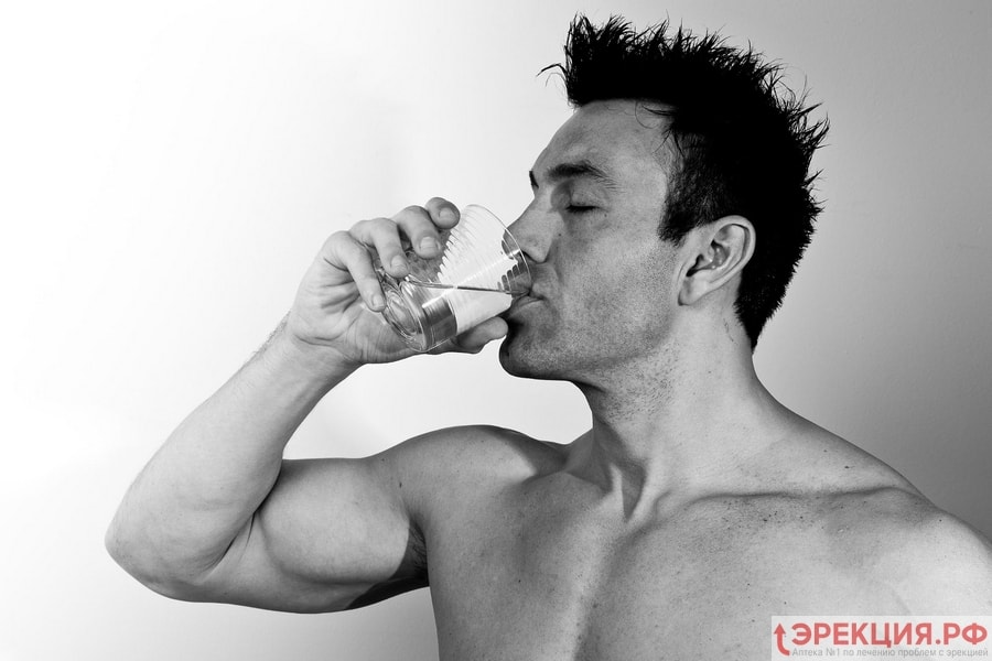 увеличение количества спермы с помощью воды