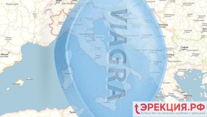 Италия занимает второе место в Европе по потреблению виагры