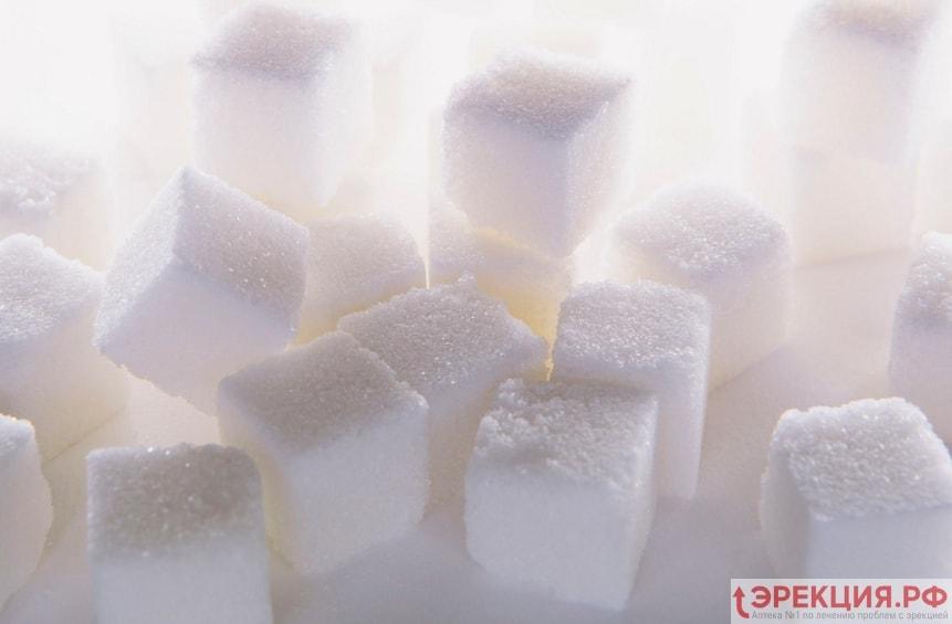 сахар понижает выработку тестостерона